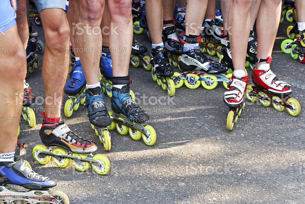 Roller skaters # 8 royalty-free stock photo