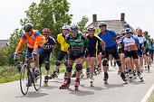 """""""'s-Hertogenbosch, the Netherlands - June 6, 2009:  Large group of roller skaters of all ages on dyke in the neighbourhood of the city 's-Hertogenbosch (also known as Den Bosch) in the south part of the Netherlands. They were skating for exercising."""""""
