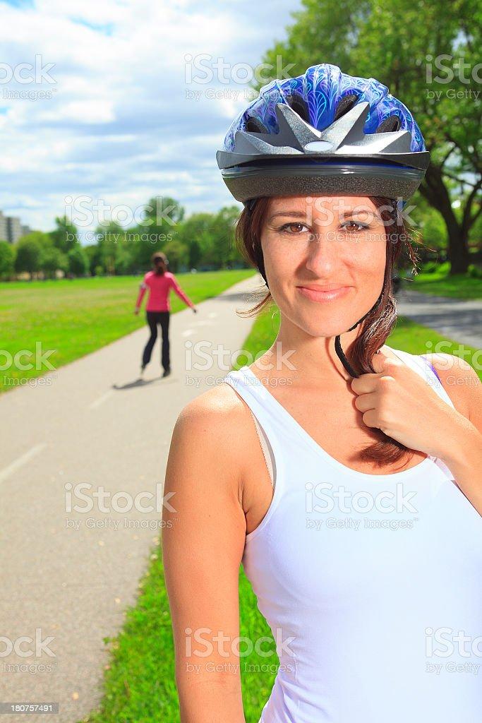 Roller Skating Woman - Protection