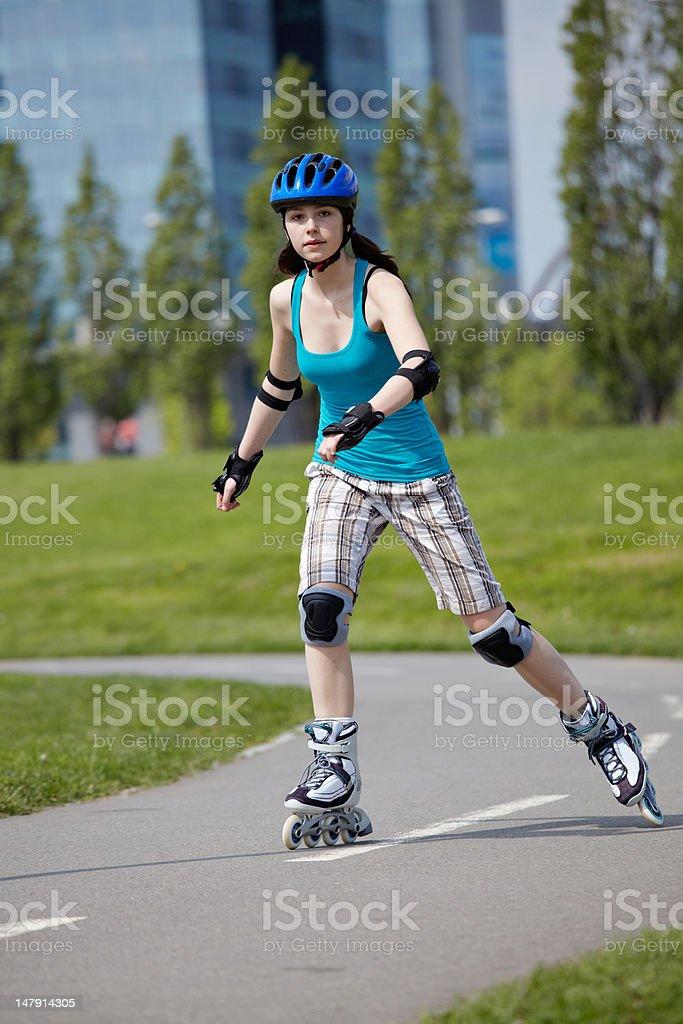 Rollerblade girl royalty-free stock photo