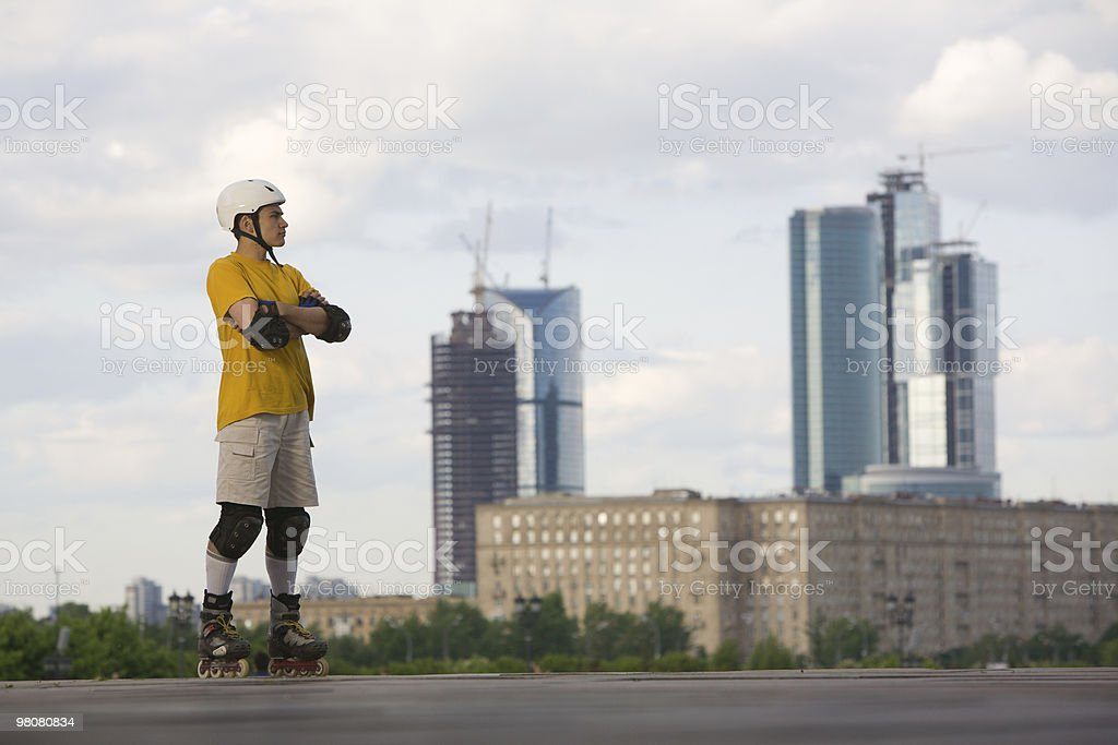 Rollerblading royalty-free stock photo