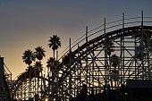 Rollercoaster at Sunset - Santa Cruz - California