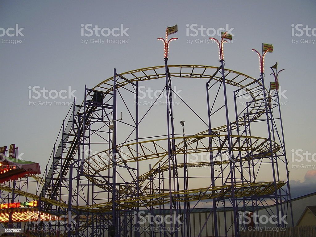 Rollercoaster at Twilight royalty-free stock photo