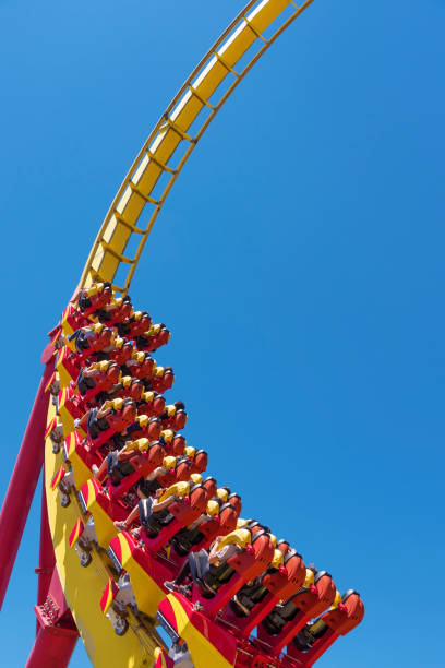 rollercoaster - roller coaster stock pictures, royalty-free photos & images