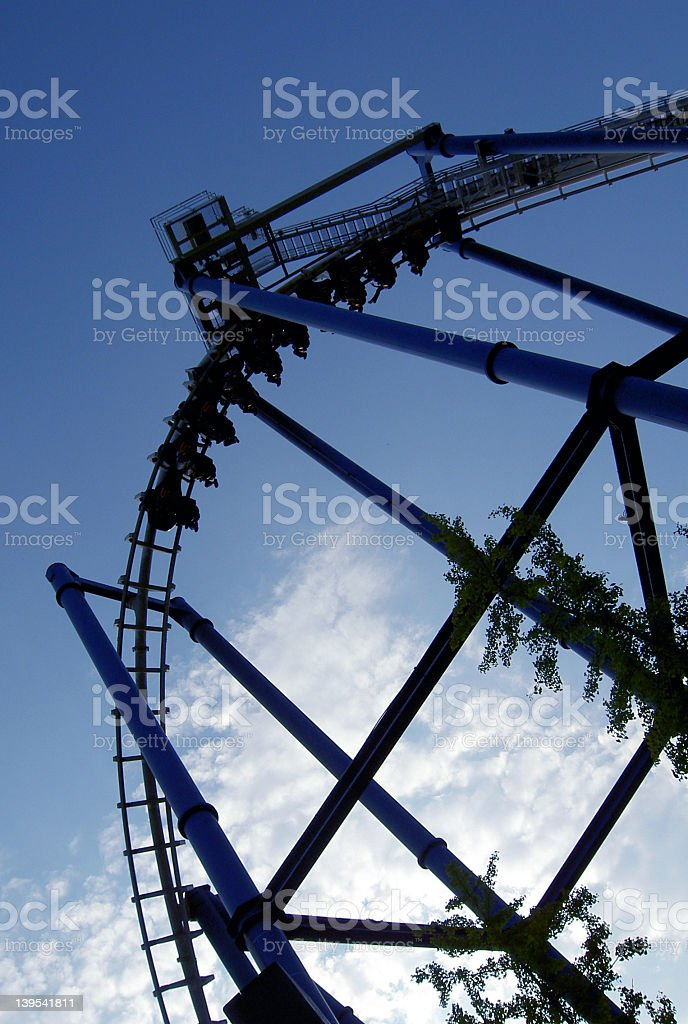 Roller-coaster stock photo