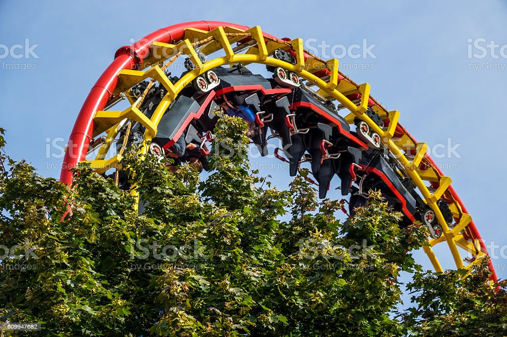 Rollercoaster stock photo