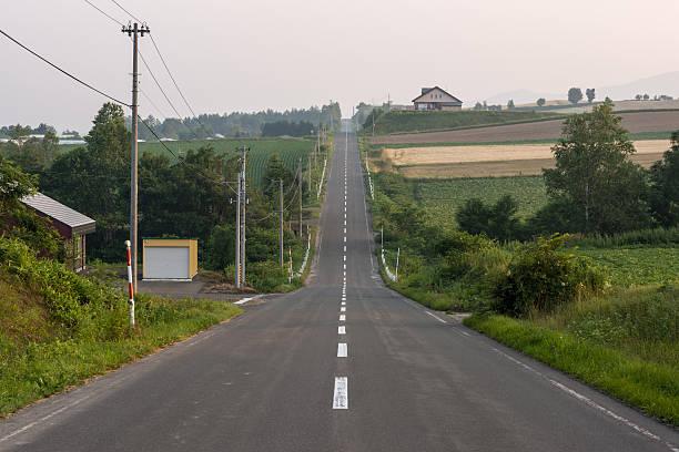 ジェットコースター road - 北海道 ストックフォトと画像