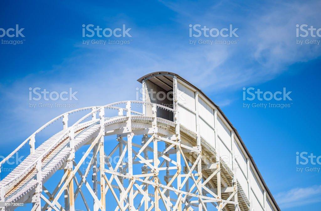 Rollercoaster Tunnel stock photo