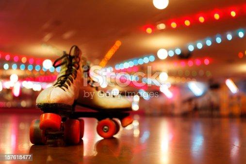 istock Rollerskates in the Roller Disco 157618477