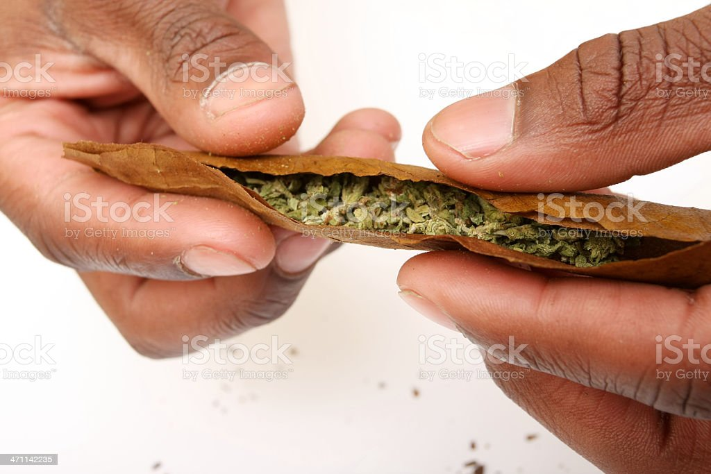 rolling a blunt stock photo