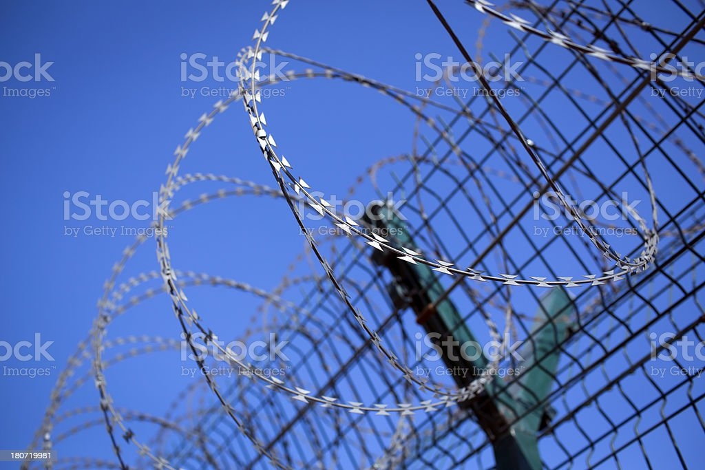 Rolling barbwire royalty-free stock photo