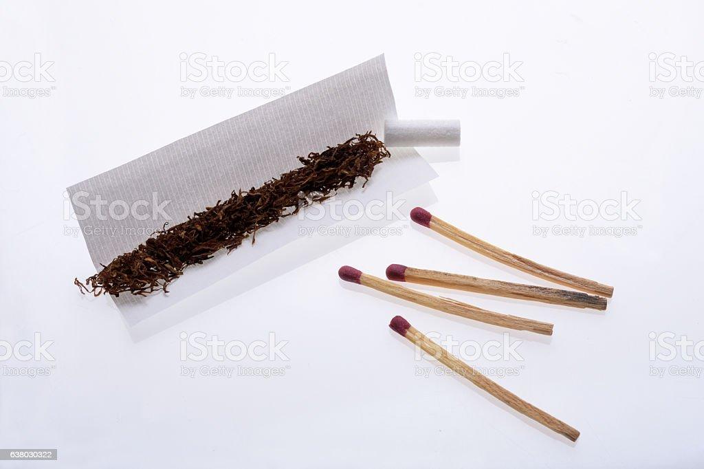 Rolling Cigarette stock photo