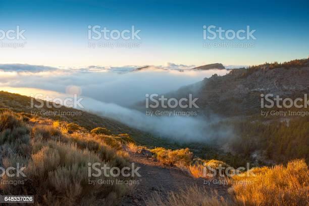 Photo of Rolling clouds below Mount Teide in Tenerife