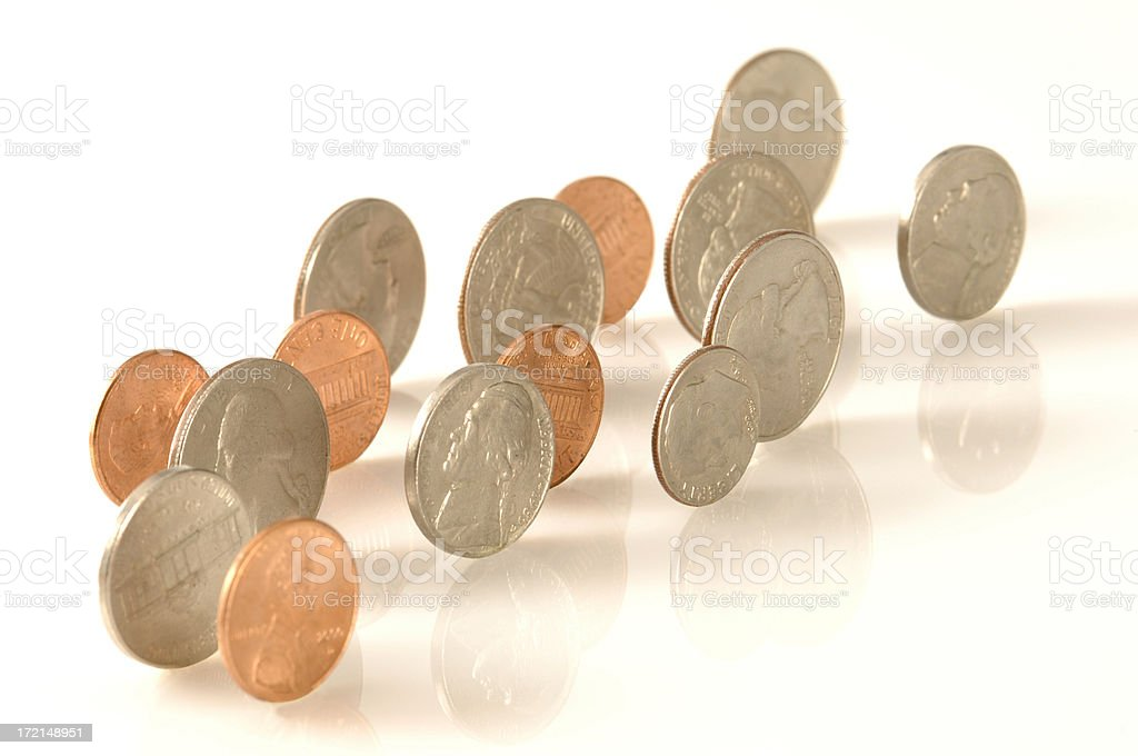 Rolling Coins royalty-free stock photo