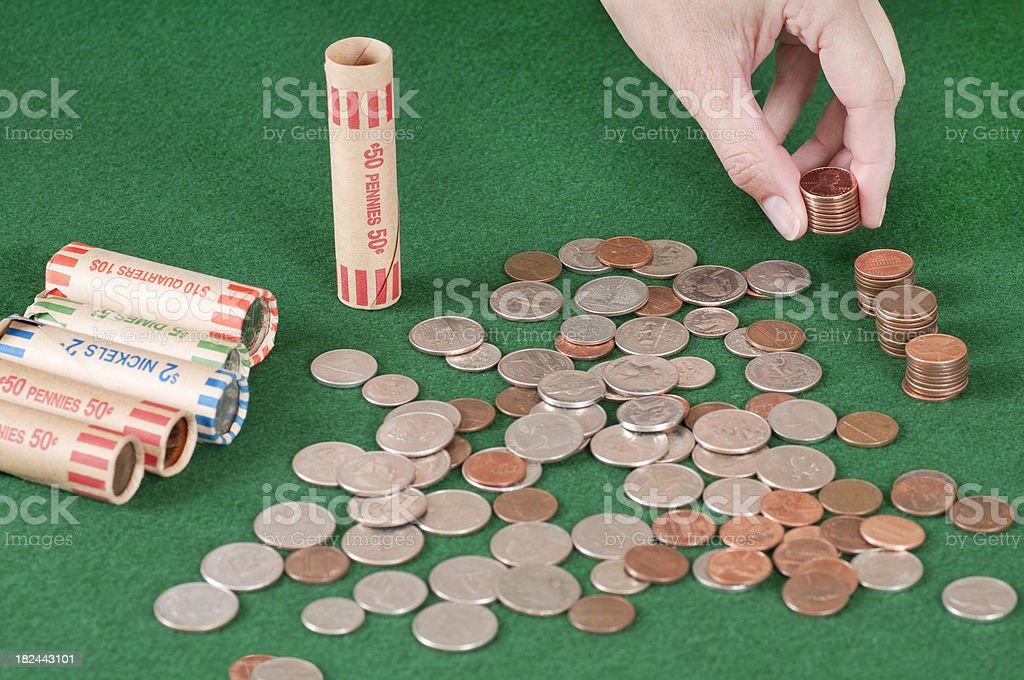 Rolling Coins Series stock photo