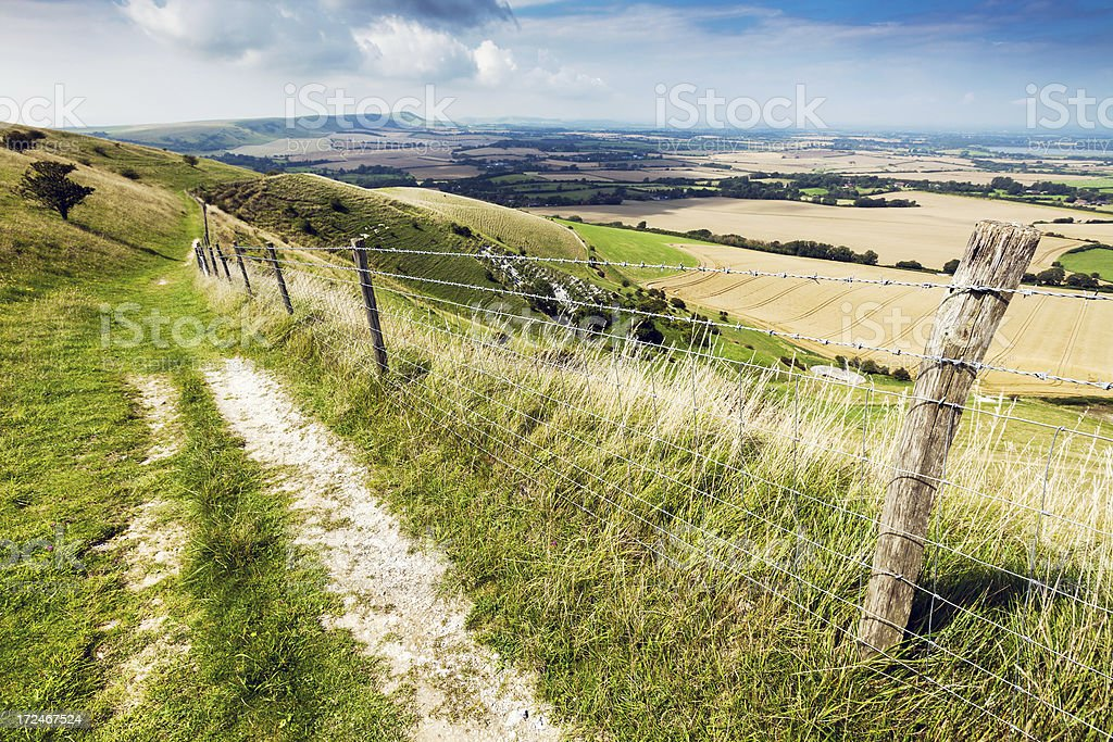 Rolling countryside in East Sussex stock photo