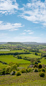 Rolling Countryside Landscape In The Cotswolds, England