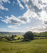 Rolling Countryside Landscape View, In The Cotswolds, England