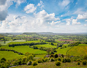 Rolling Countryside View In The Cotswolds, England