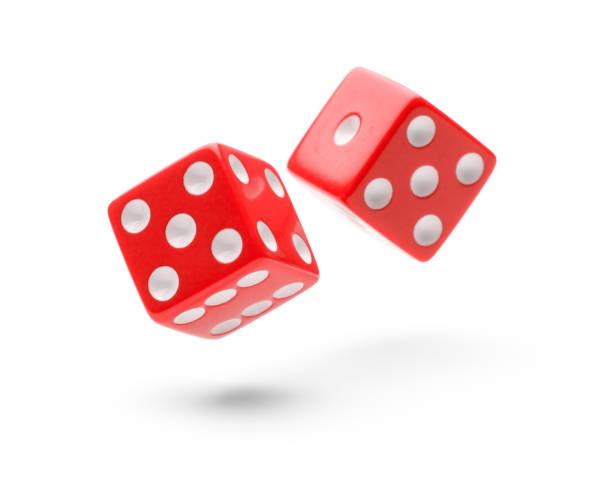 rolling dice - gioco dei dadi foto e immagini stock