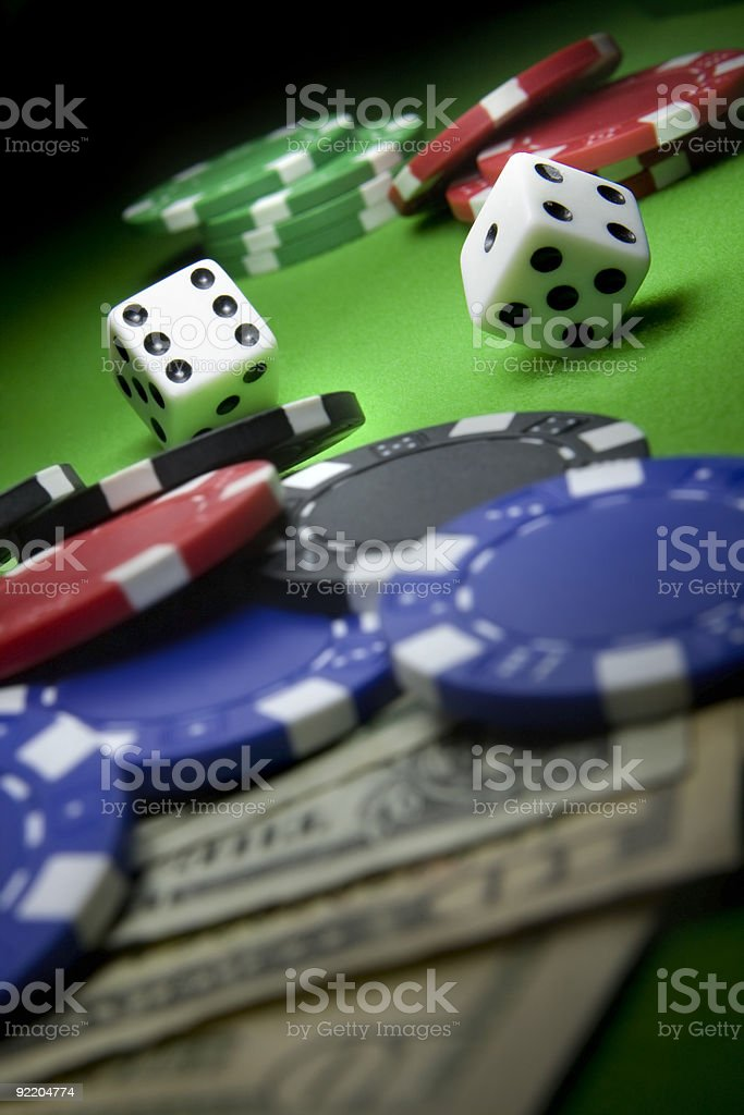 rolling dice royalty-free stock photo