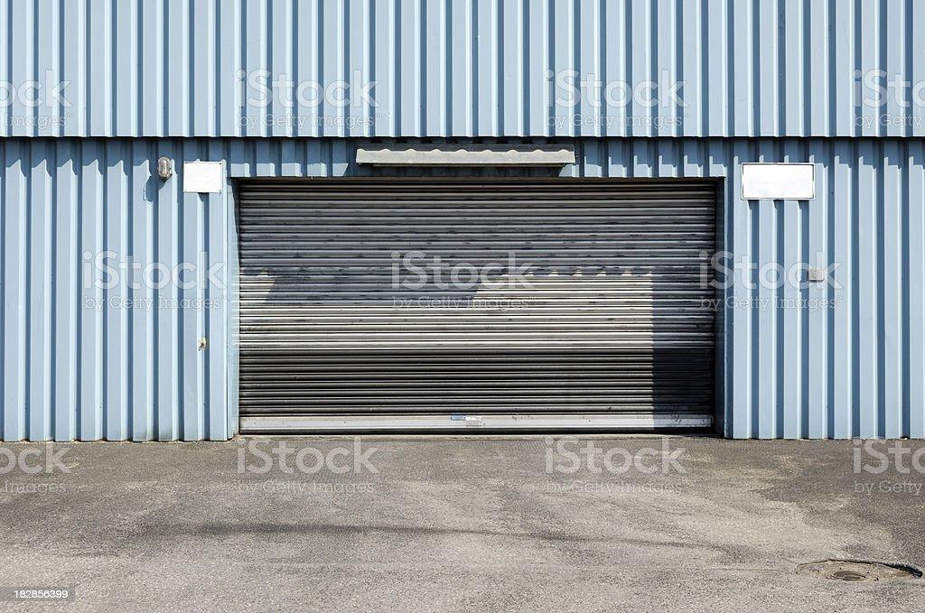 Rolling Garage Door Of A Factory Building Stock Photo 182856399 Istock