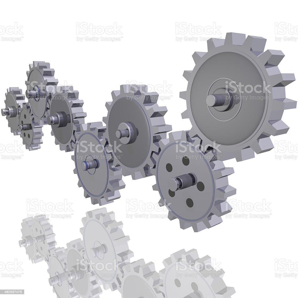 Rolling Gears stock photo