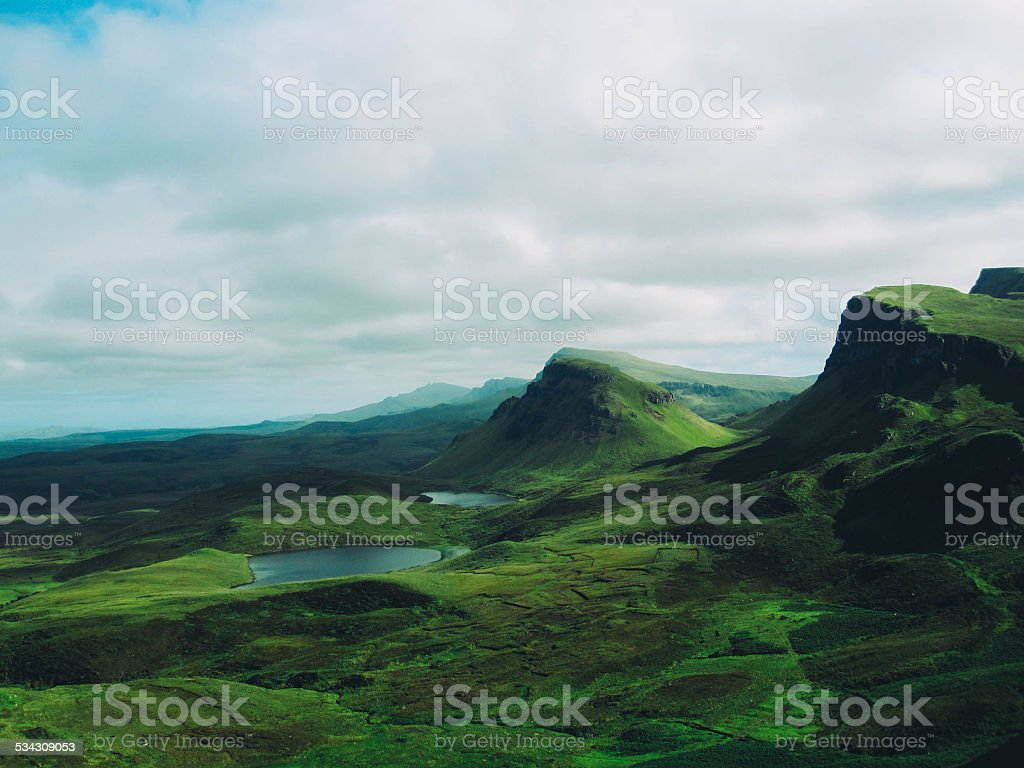 Rolling green hills of the Isle of Skye stock photo
