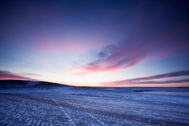 Rolling Hills Of Saskatchewan Canada stock photo