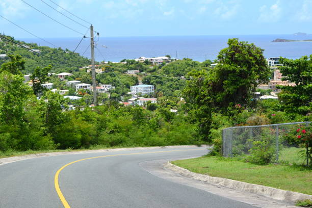 Rolling Hills of St. John, USVI stock photo
