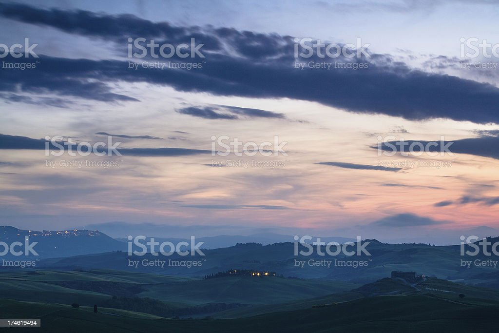 rolling hills of tuscany royalty-free stock photo