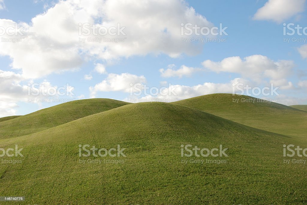 Rolling Hills on Golf Course royalty-free stock photo