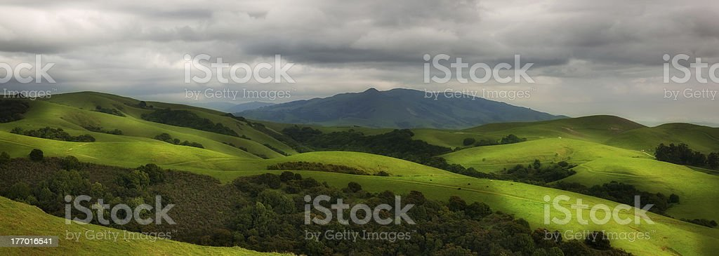 Rolling hillside pasture royalty-free stock photo