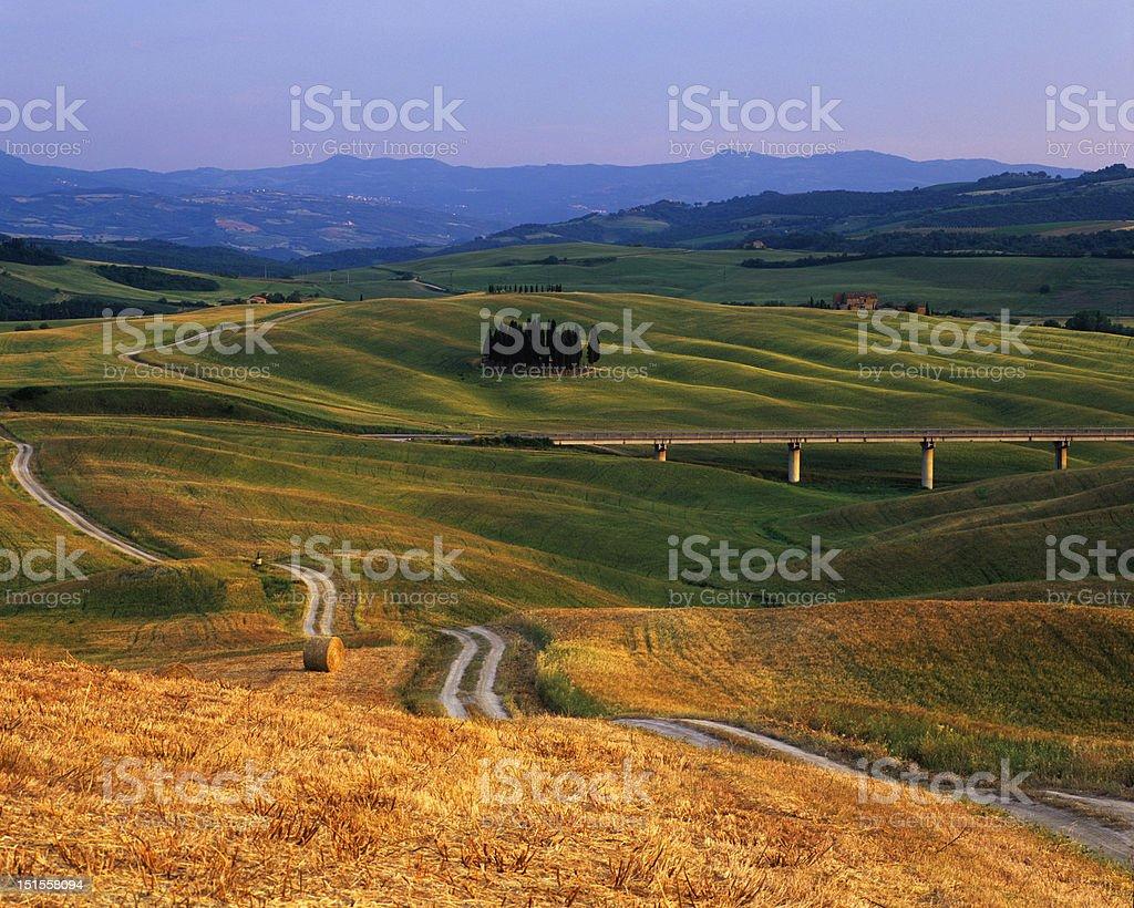 Rolling landscape, tuscany royalty-free stock photo