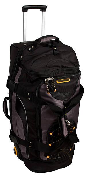 Rolling Luggage Duffle Bag stock photo