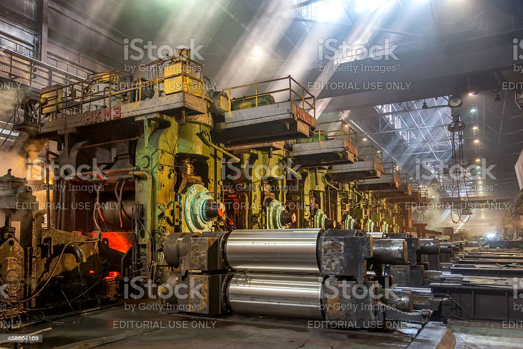 Rolling mill equipment stock photo
