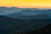 istock Rolling Mountain Ridges at Sunset 1291486324