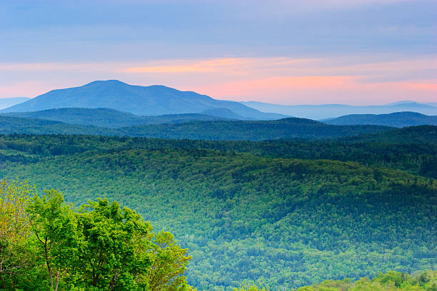 Rolling Mountains of Vermont stock photo
