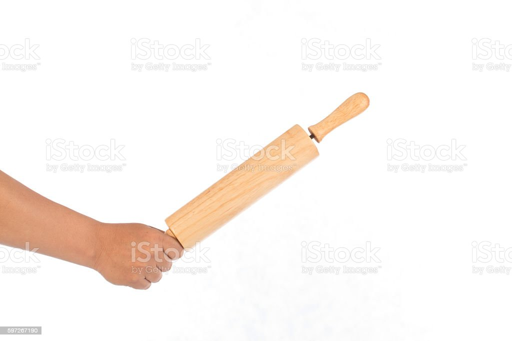 Rolling pin royalty-free stock photo