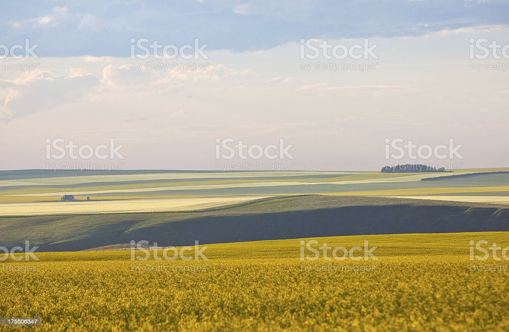 Rolling Prairie Landforms stock photo