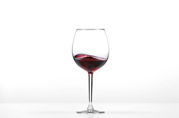 Rolling red wine stock photo