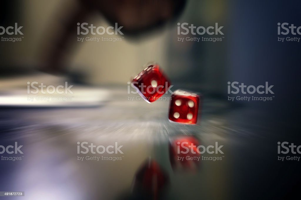 Rolling Dice stock photo