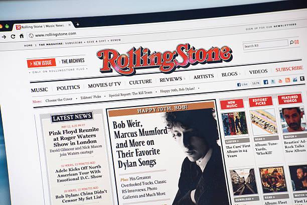 Rolling Stone Magazine Web Page stock photo