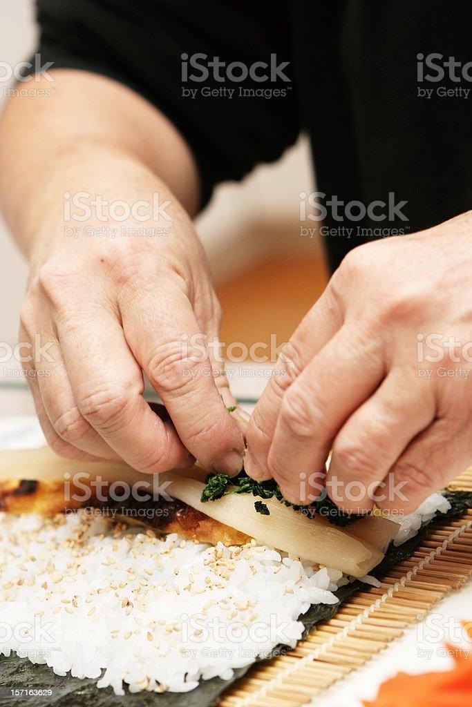 Rolling Sushi royalty-free stock photo