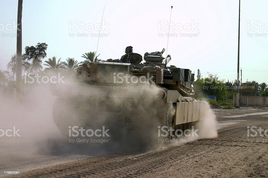 Rolling Tank royalty-free stock photo