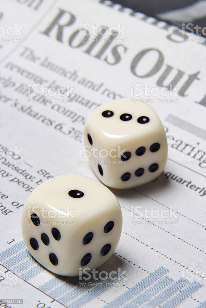 Rolling the dice with your financial future royalty-free stock photo