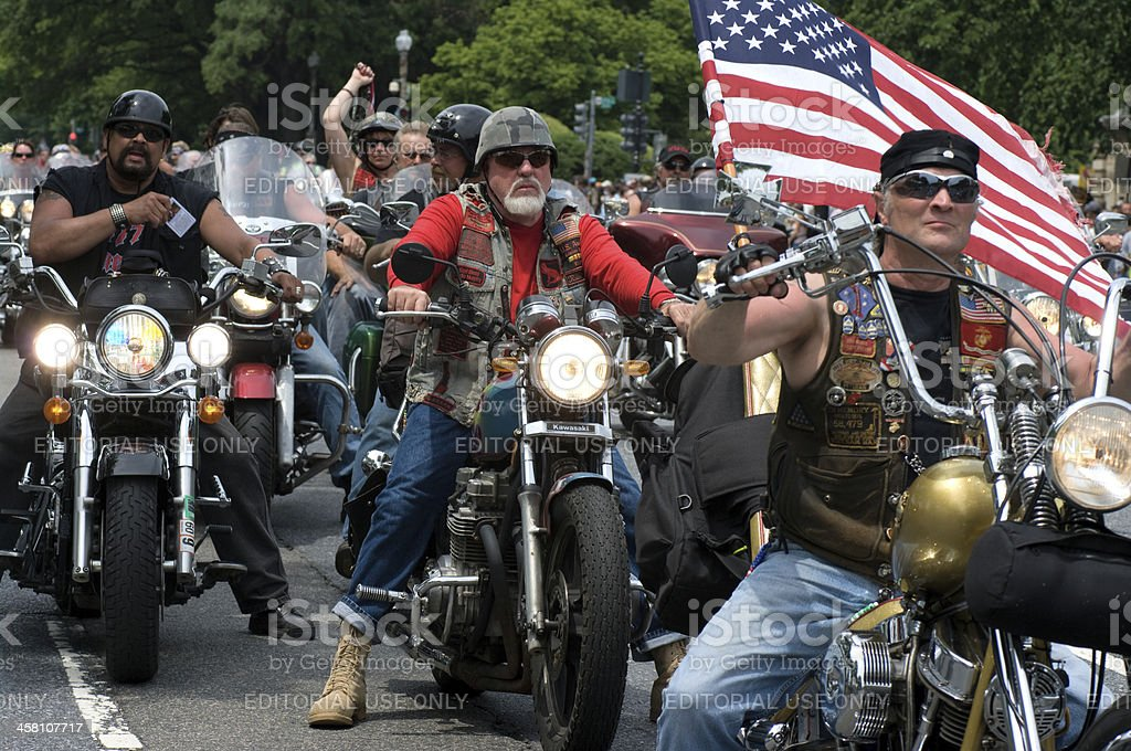 """Rolling Thunder """"Washington DC, USA - May 23, 2009: The annual Rolling Thunder rally Ride For Freedom ridden by veterans and bikers around the Washington DC Mall on Memorial Day weekend"""" Adult Stock Photo"""