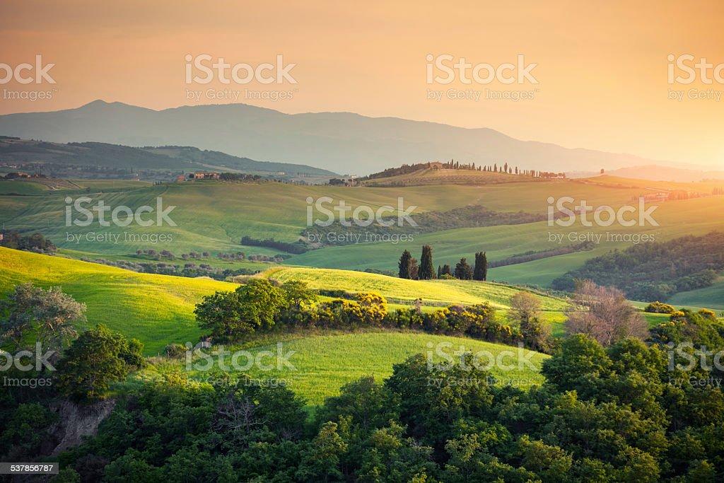 Rolling Tuscany Landscape stock photo