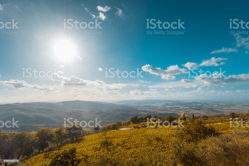 Rolling Tuscany Landscape. Val D'orcia, Tuscany, Italy, Europe stock photo