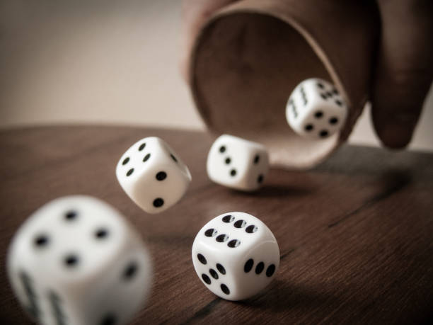 Rolling you Say Rolling Dices game of chance stock pictures, royalty-free photos & images